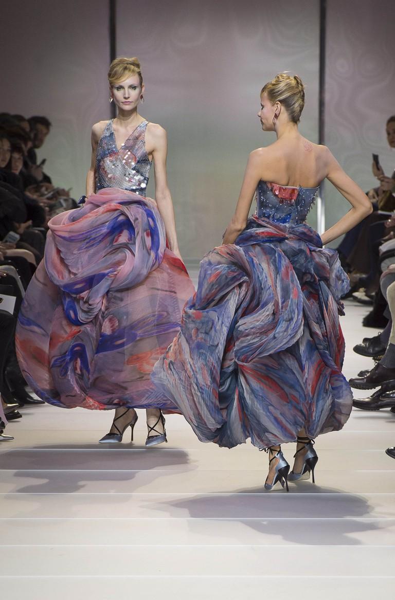 Giorgio Armani Prive show, Runway, Spring Summer 2018, Haute Couture Fashion Week, Paris, France - 23 Jan 2018