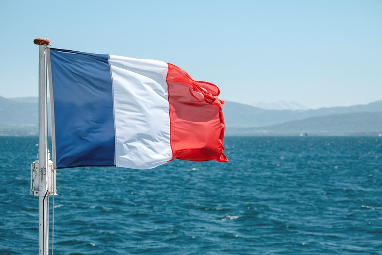 The French flag flying high