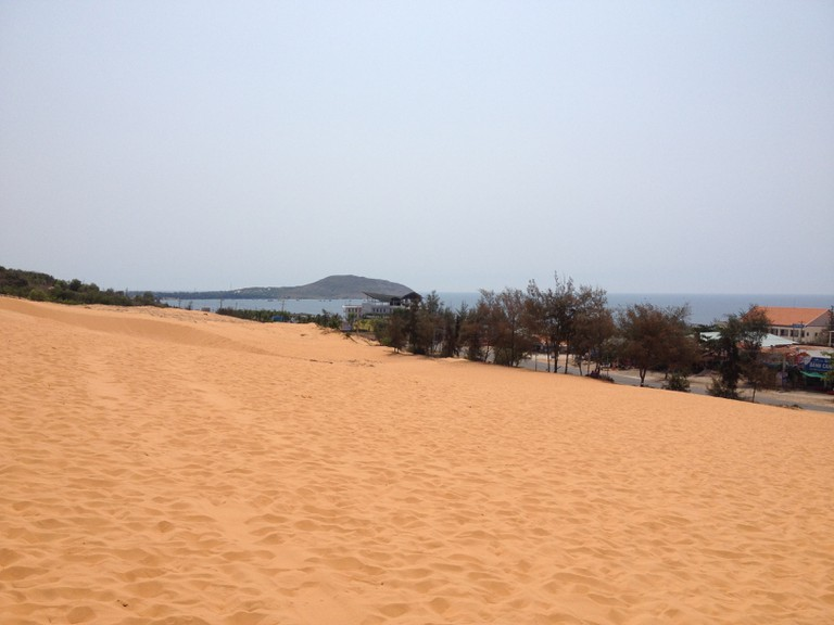 Sand dunes to the sea
