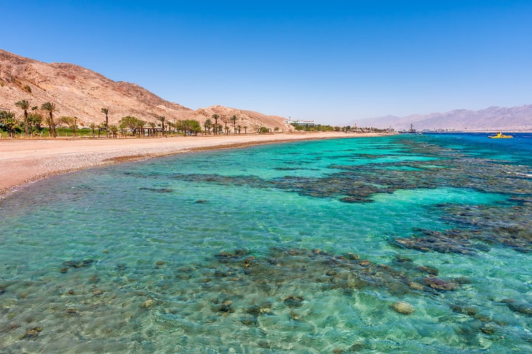Eilat's stunning turquoise waters on a secluded beach