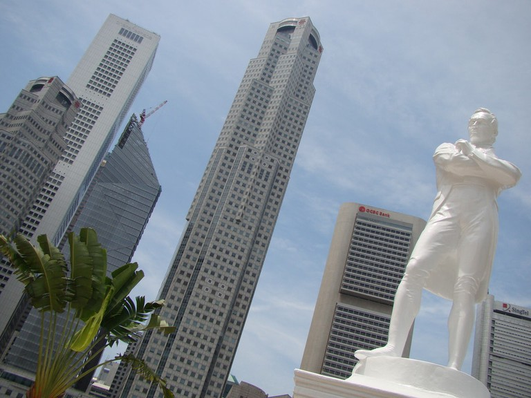 Singapore Raffles Statue Vasenka
