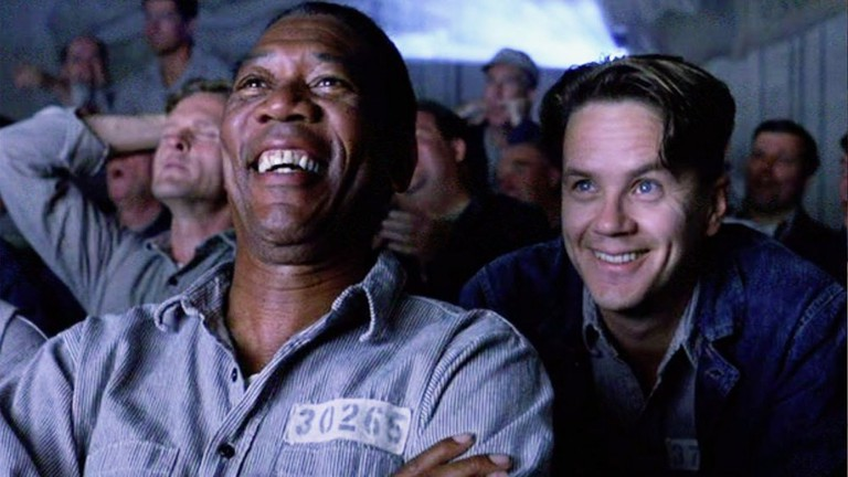 Morgan Freeman and Tim Robbins in <em>The Shawshank Redemption</em> | © Columbia Pictures
