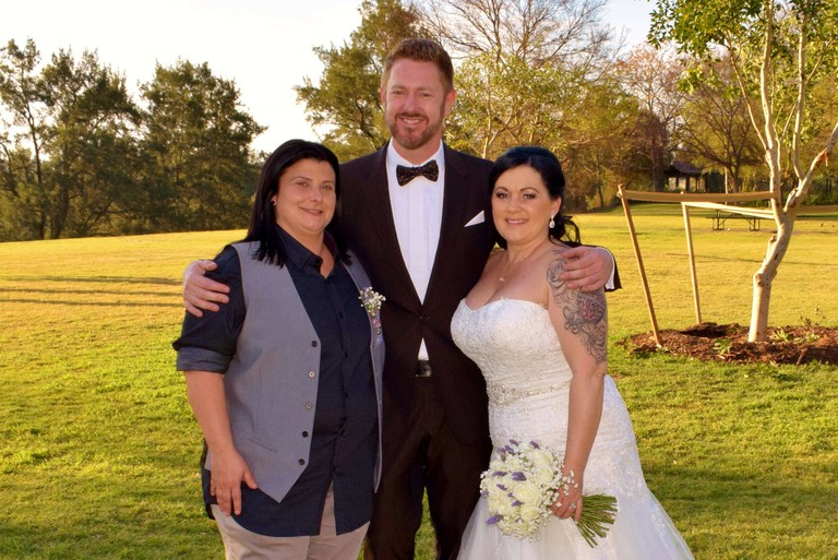 Stephen Lee with Kat and Leanne | Courtesy of Stephen Lee