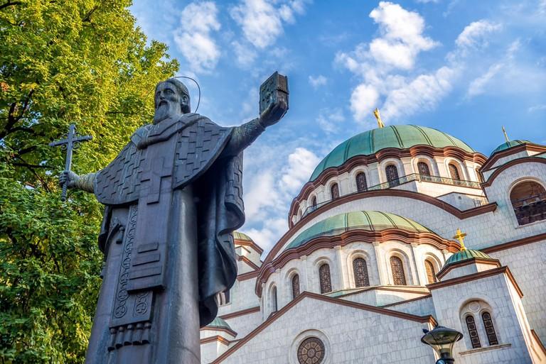 The Church of Saint Sava photobombing the man himself | © Kirill_Makarov/shutterstock