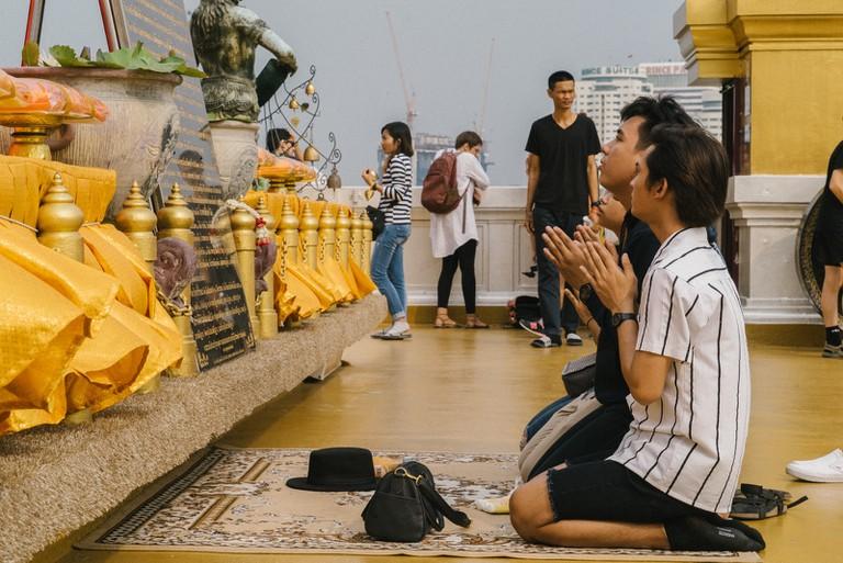 THAILAND-BANGKOK-WAT-SAKET-23