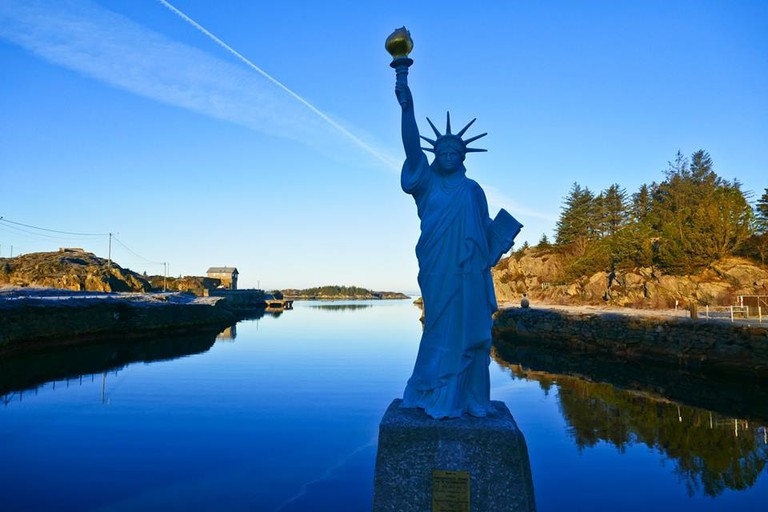 The village of Visnes has its own Statue of Liberty