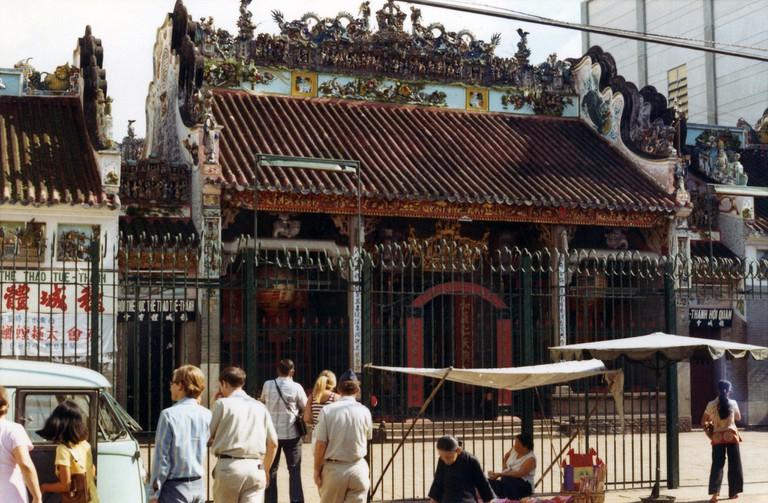Thien Hau Pagoda in the 1970's