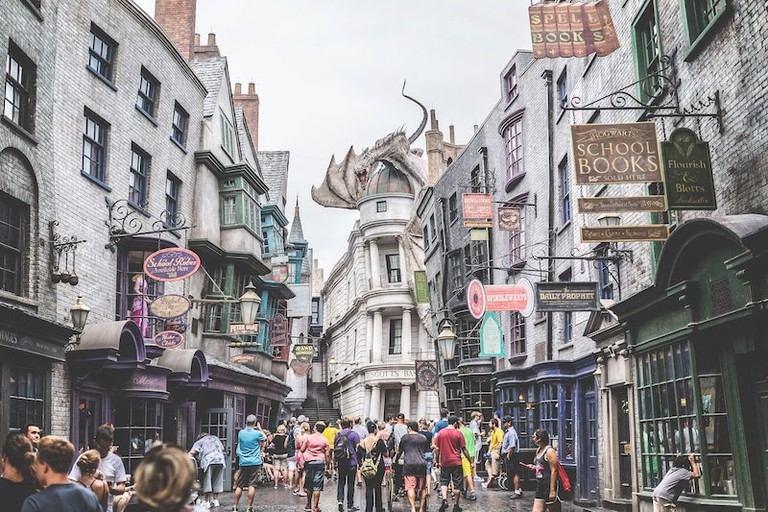 Butterbeer is served at official Harry Potter venues worldwide