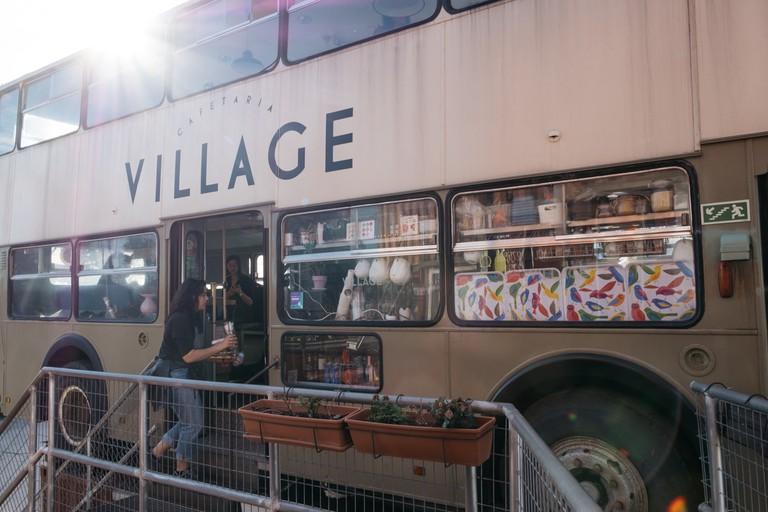 WATSON - LISBON, PORTUGAL - CAFÉ AT VILLAGE UNDERGROUND INSIDE BUS