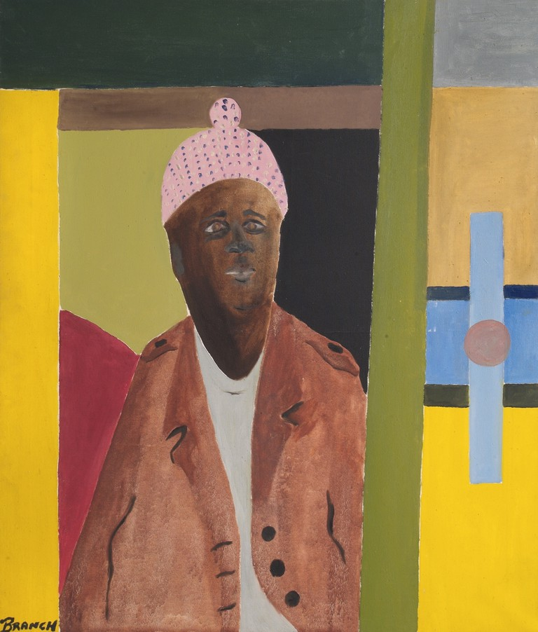 Winston Branch, West Indian, 1973, oil on canvas, 105 x 90.2cm © the artist. Photo credit - Rugby Art Gallery and Museum Art Collections copy