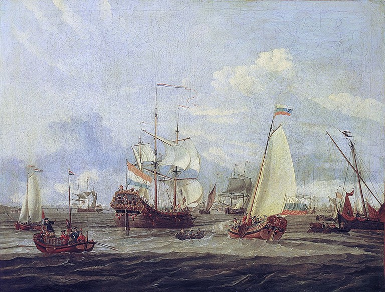 1012px-Abraham_Storck_-_Peter_the_Great_inspecting_a_ship_at_Amsterdam