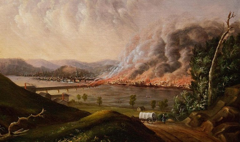 View of the Great Fire of Pittsburgh | © William Coventry Wall / WikiCommons