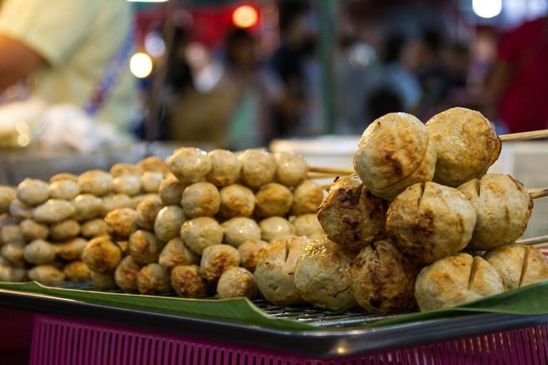 Pork balls in Thailand