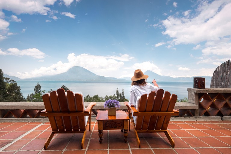 The view from the terrace at Casa Palopo, Guatemala
