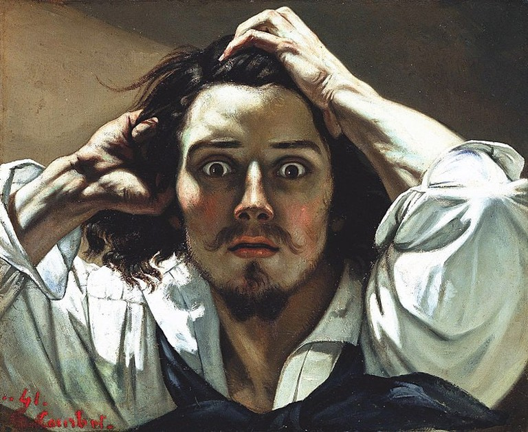 """Gustave Courbet, 'The Desperate Man', 1843–1845 