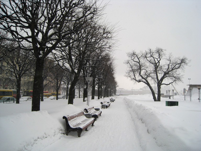 St Petersburg under the snow