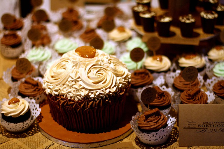 Assorted chocolate cakes