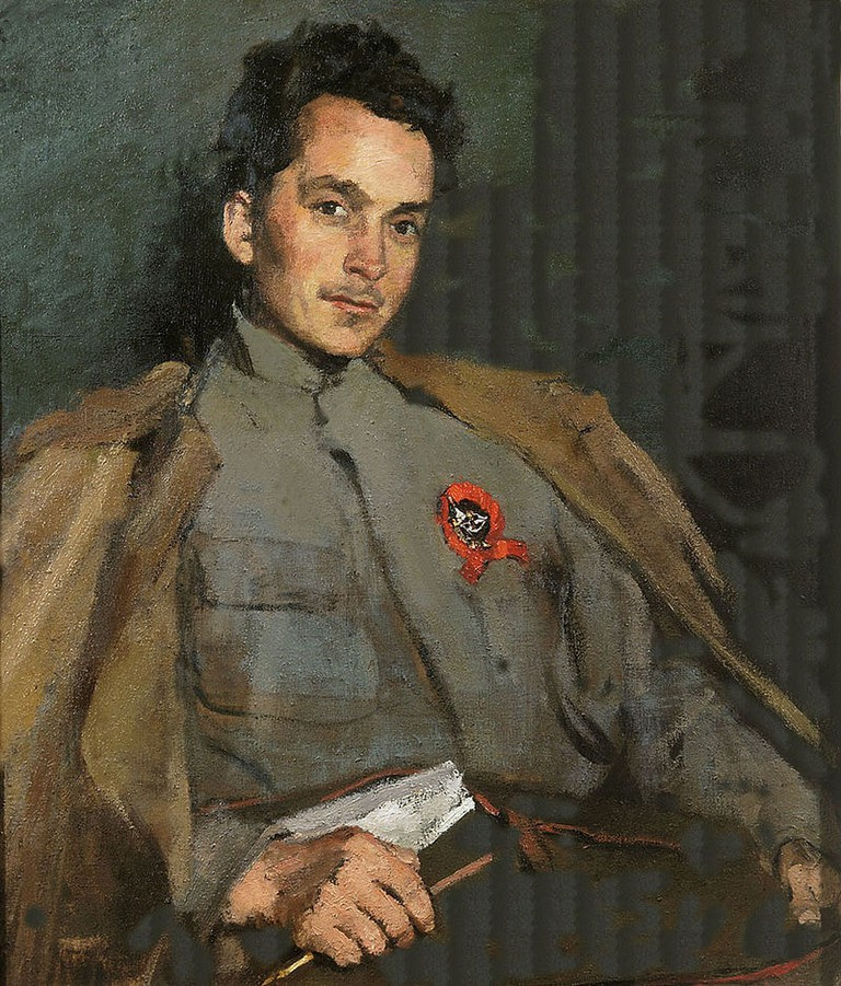 "Sergey Malyutin, 'Portrait of Dmitry Furmanov', 1922 | <a href=""https://en.wikipedia.org/wiki/Dmitry_Furmanov#/media/File:Furmanov_by_malutin.jpg"" target=""_blank"" rel=""noopener"">© WikiCommons</a>"