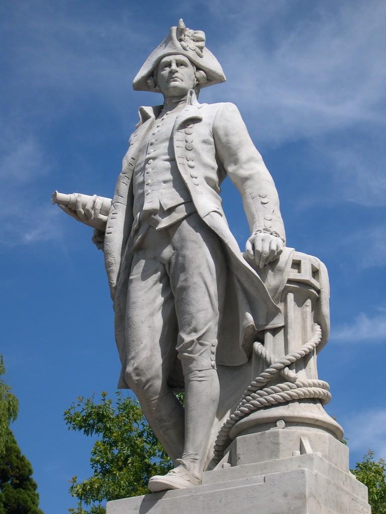 A Statue of Captain Cook, Christcurch