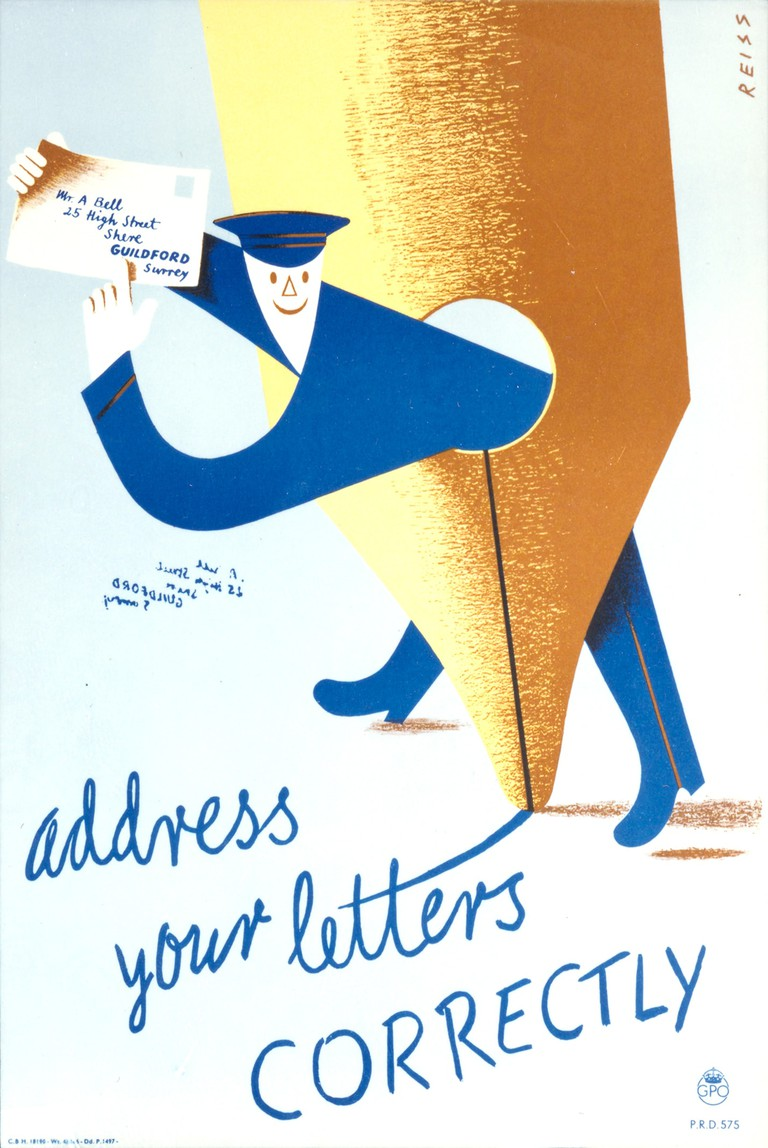 Address Your Letters Correctly posters © Royal Mail Group ltd 2017, courtesy of The Postal Museum