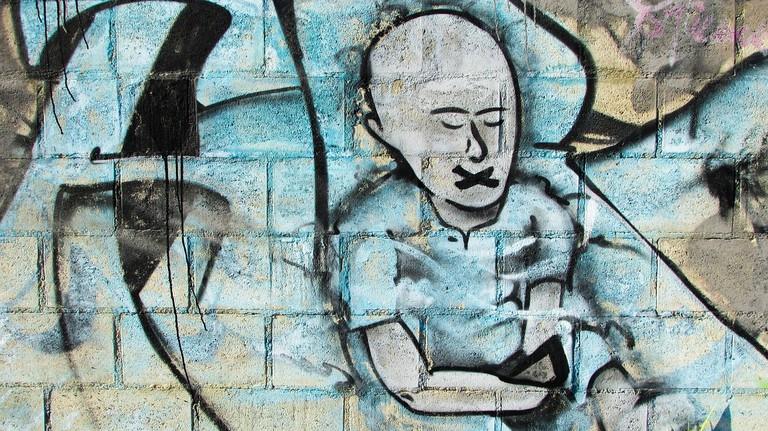 Censorship Graffiti dimitrisvetsikas1969