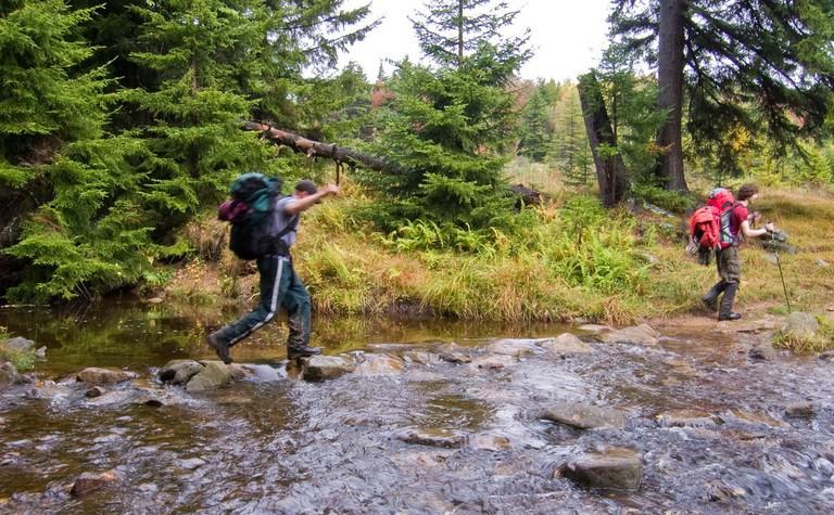 John Crosses Red Creek