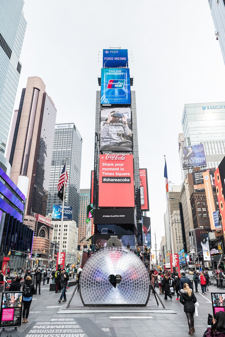 'Window to the Heart'   © Ian Douglas for Times Square Arts