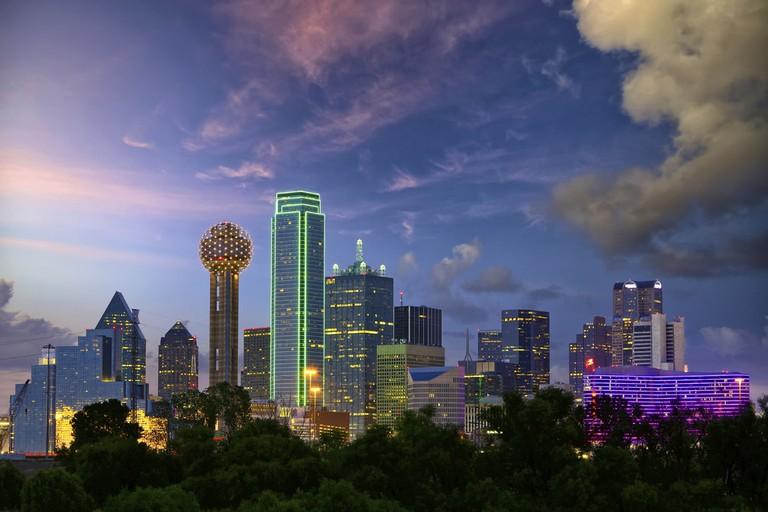 Dallas skyline at night │© Dibrova/Courtesy of VisitDallas