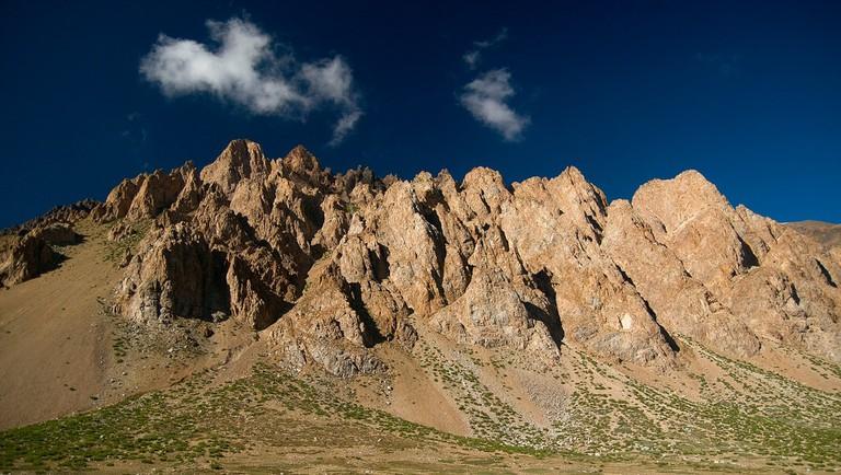 A mountain ripe for climbing in Uspallata