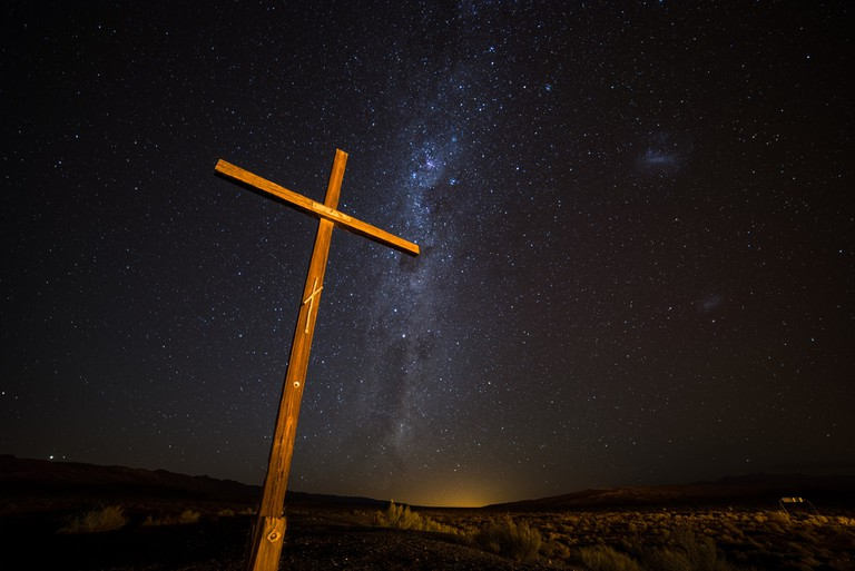 A cross in Barreal, Argentina