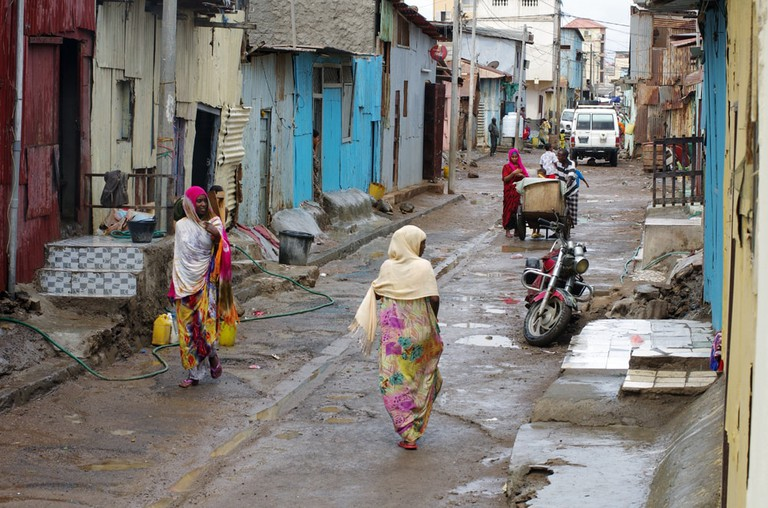 A glimpse into one of the many poor areas in Djibouti City