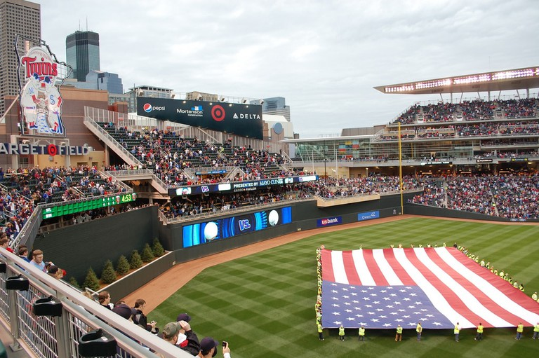 Flag on Minnesota Twins' Target Field Gutenfrog