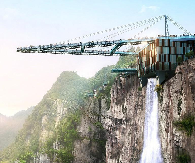 Glass-bridge-China-Wansheng-Ordovician-Theme-Park