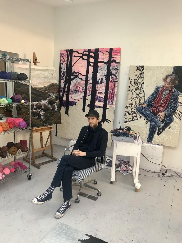Henry in the studio January 2018