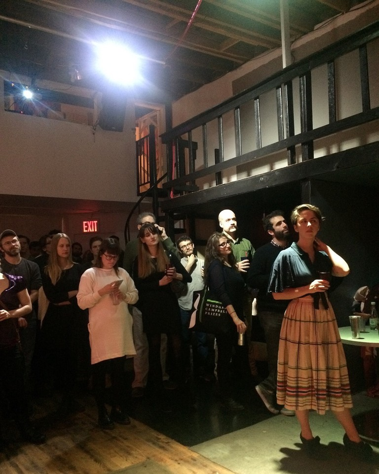Guests at the <em>Triangle House Review</em> launch party | © Becca Schuh