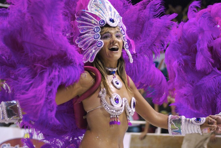 A performer at Carnival