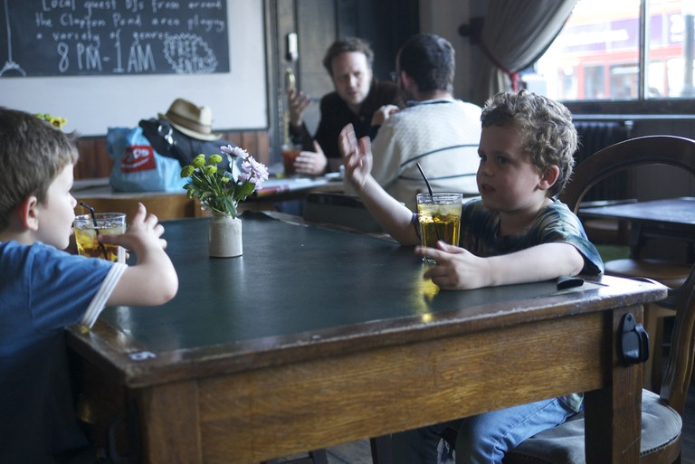 Kids at the Clapton Hart