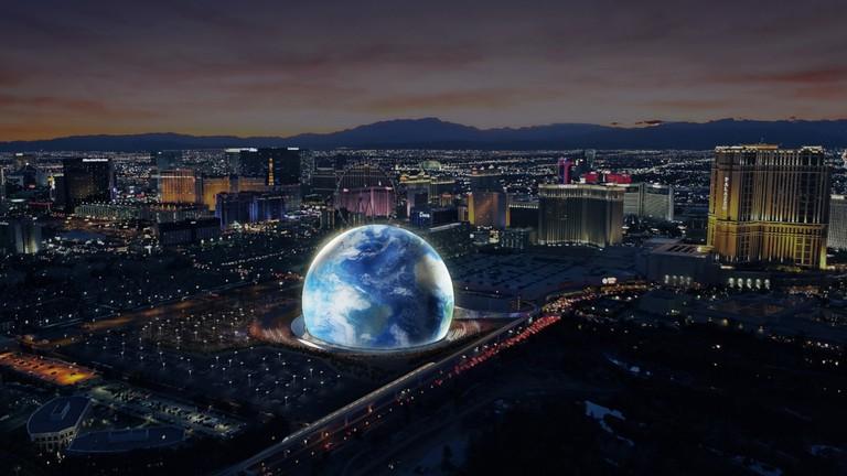 Madison Square Garden Company 'Golf Ball' Venue in Las Vegas