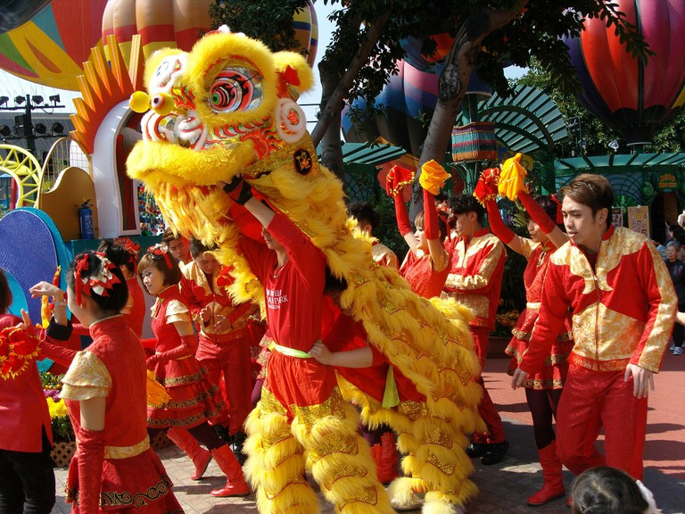 Lion Dance Parade Hong Kong