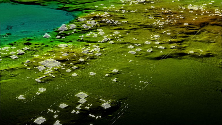 White Boxes 3, showing some of the 60,000 new structures LiDAR revealed | © Wild Blue Media