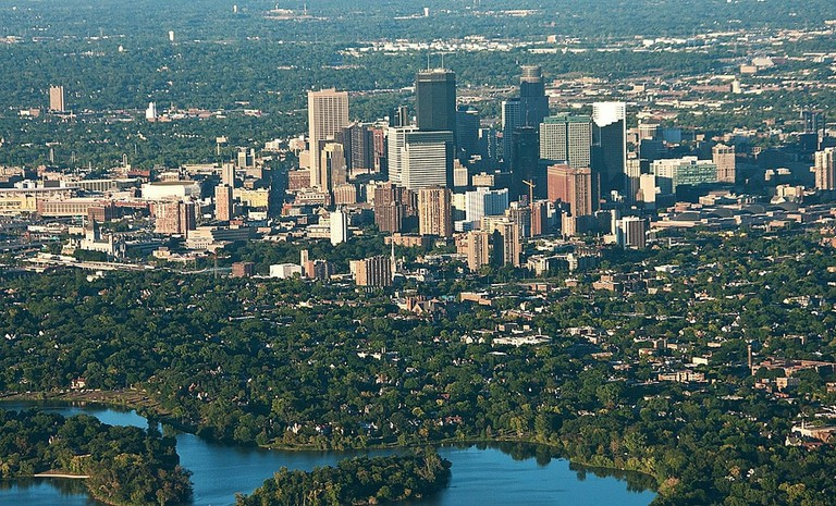 Minneapolis with one of th 10,000 lakes in the foreground, Ron Reiring Flickr