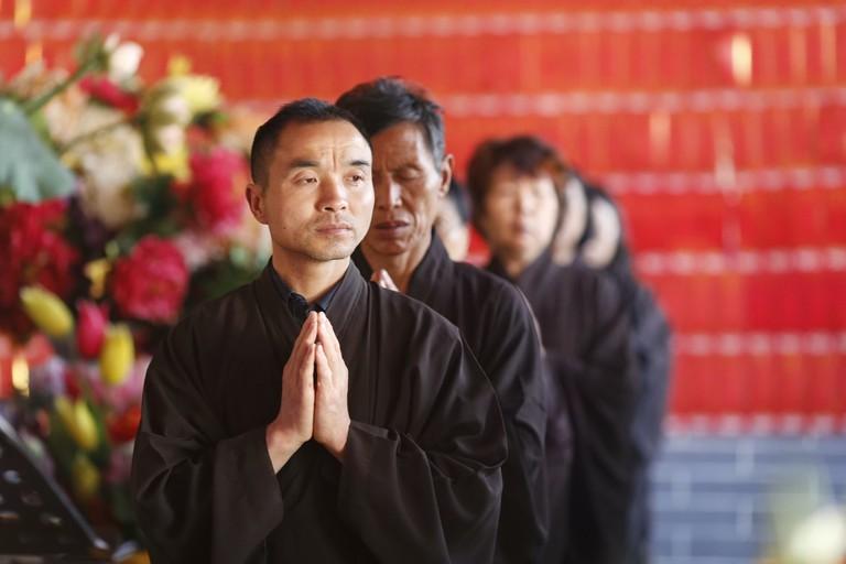 Namaste in monastery