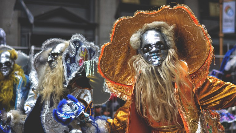 Carnival performers in Argentina