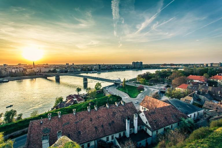 Novi Sad view from Petrovaradin