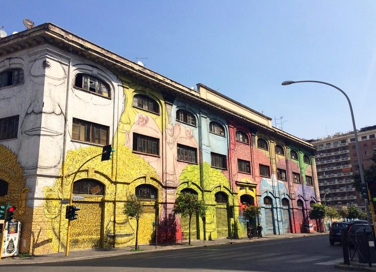 Blu's Technicolor street art on Via del Porto Fluviale | © Emma Law