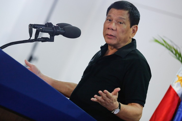 President_Rodrigo_Duterte_delivers_a_message_upon_his_arrival_at_the_Francisco_Bangoy_International_Airport
