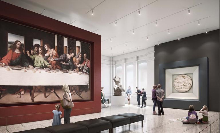 Royal Academy's Burlington Gardens Collection Gallery in 2018