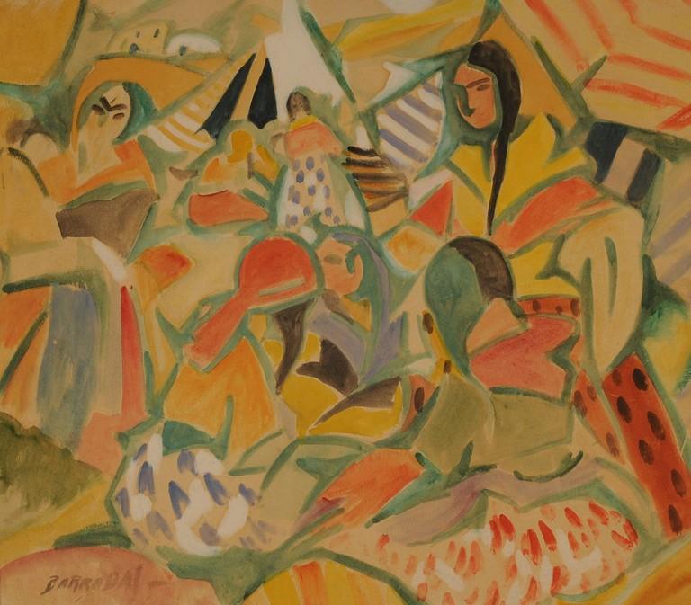 Rafael_Barradas_-_Campamento_gitano,_1918