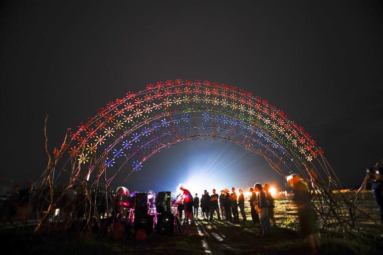 Rainbow Serpent light installation | © Francesco Vicenzi/Flickr