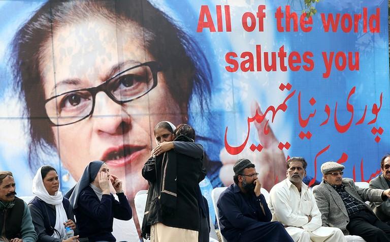 Asma Jahangir Funeral, Lahore, Pakistan - 13 Feb 2018